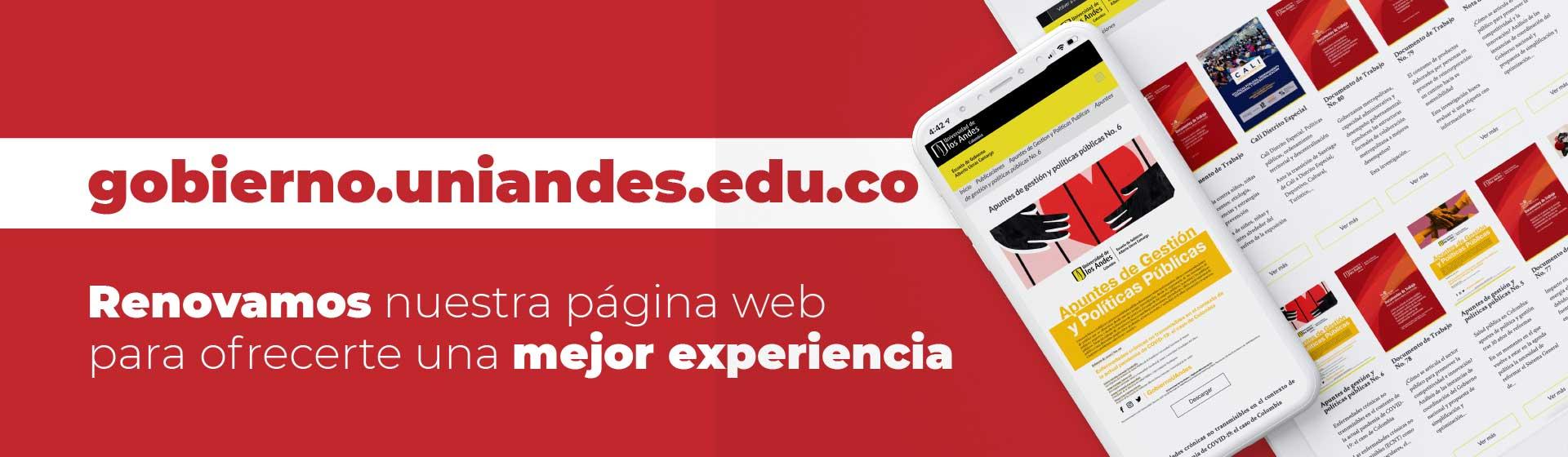 Bienvenidos a gobierno.uniandes.edu.co