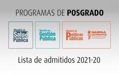 Lista de admitidos para posgrados 2021-20